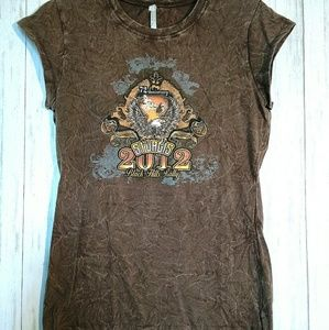 Tops - Sturgis Rally 2012 Brown Size Large T-SHIRT